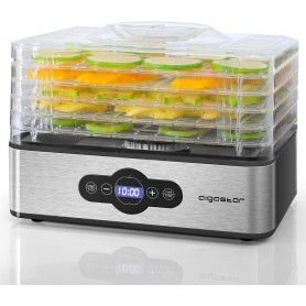 Aigostar Essiccatore Alimentare 240W 5 Vassoi Controllo Digitale Senza BPA