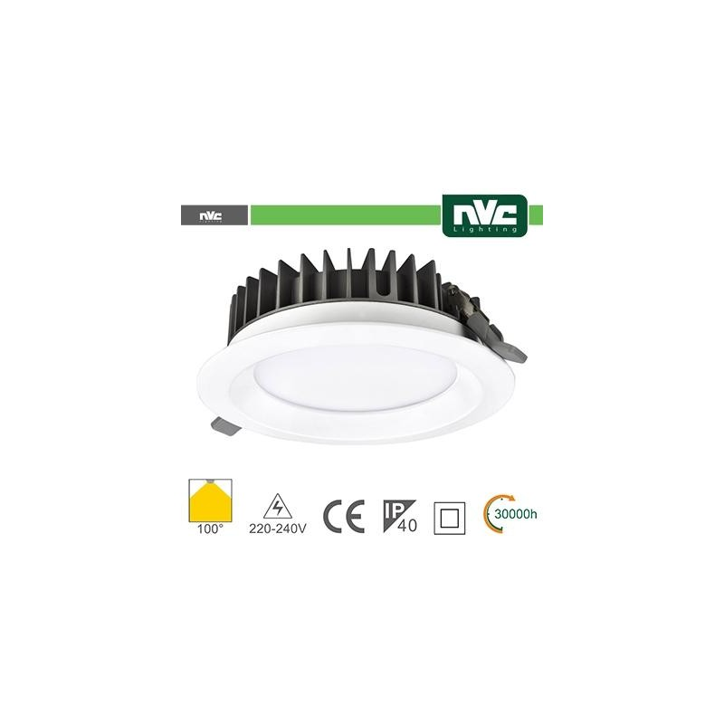 Downlight LED IP40 20W 4000K 1640LM 100º FORO:150mm