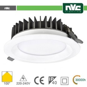 Downlight LED IP40 30W 3000K 2400LM 100º FORO:200mm