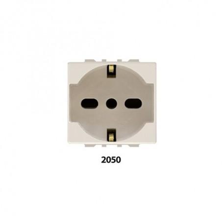 Presa Unel Schuko 2050 10/16A 250V Feb Laser Compatibile Magic Bticino