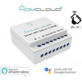 Modulo Interruttore Intelligente Wi-Fi 3 canali da incasso