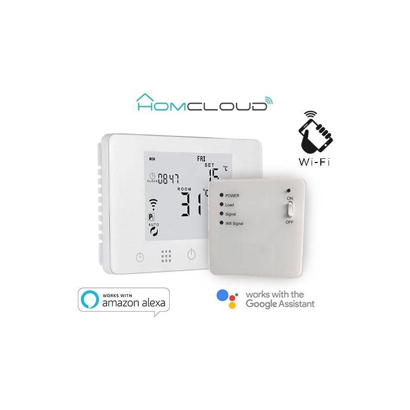 Cronotermostato digitale Homcloud wi-fi con ricevitore RF