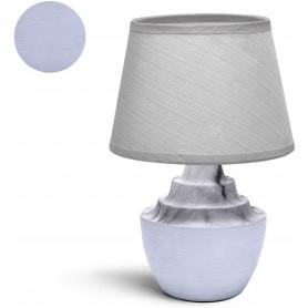 Aigostar Lampada da Tavolo Abat Jour in Ceramica Bianca E14