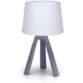 Lampada da Tavolo Abat Jour Aigostar E14 in Resina - Bianco e Silver
