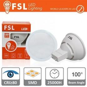 GU10 Lampadina LED - 6W 3000K 520LM 100° CRI80 Antiriflesso