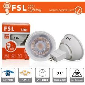 MR16 Lampadina LED - 6W 3000K 500LM 38º CRI80 AC/DC 12V