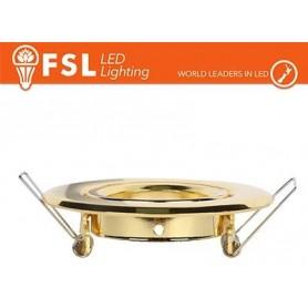 Portafaretto orientabile Color Oro 90*25/Φ70 - GU10 MR16